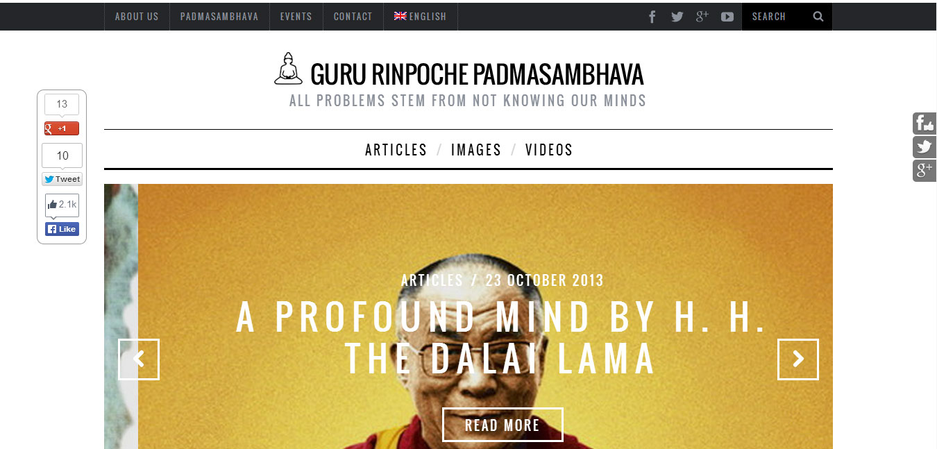 Sito web di GuruRinpoche