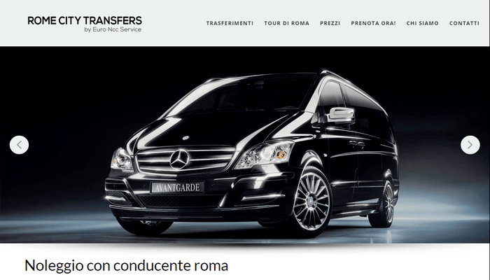 Sito web di Rome City Transfers