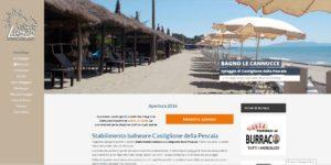 homepage del sito web dello stabilimento balneare le cannucce