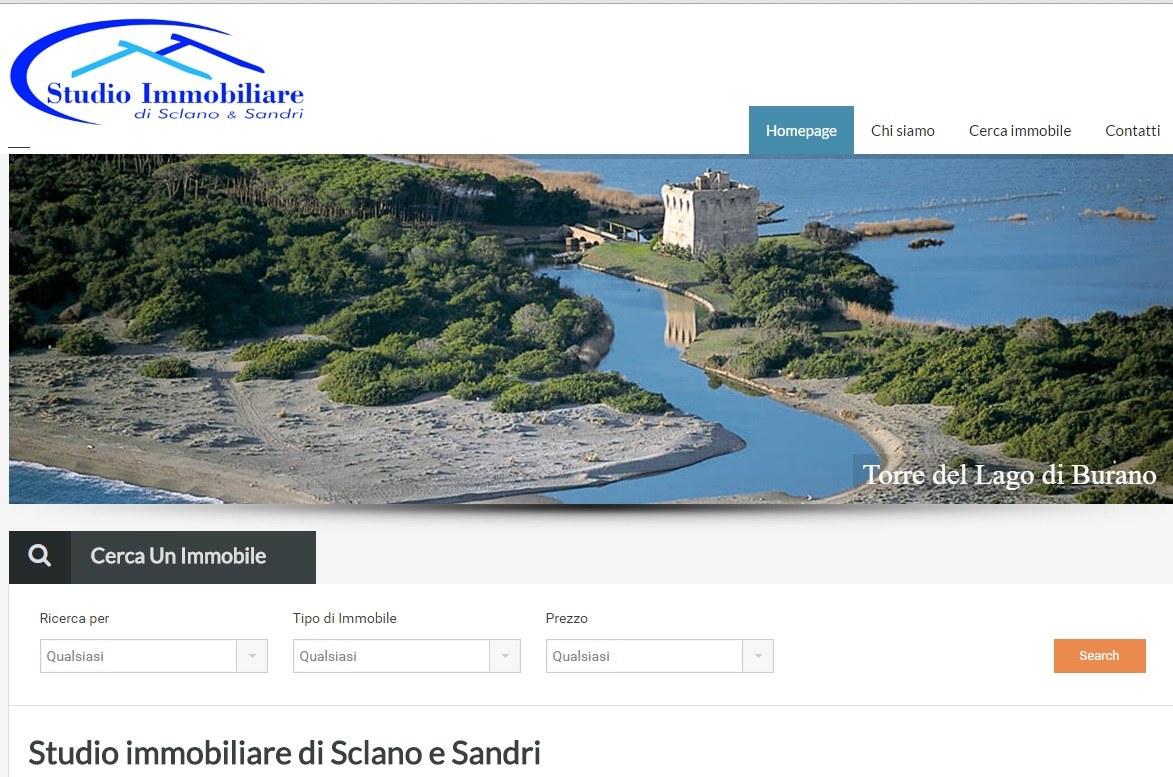 Sito web Studio Immobiliare Sclano e Sandri
